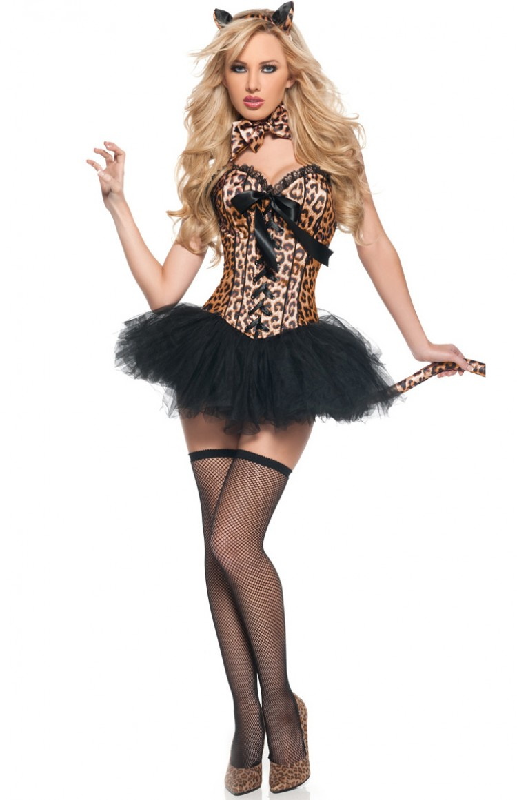 6-pc Leopard Deluxe Costume