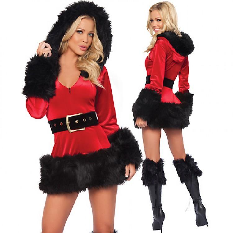 Velvet Santa Burlesque Costume