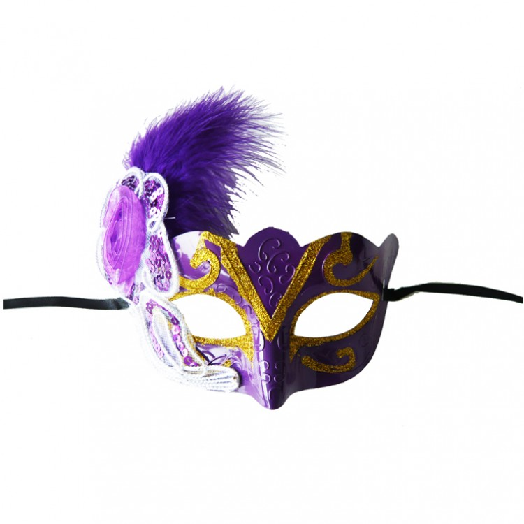 Sequins Flower Masquerade Mask