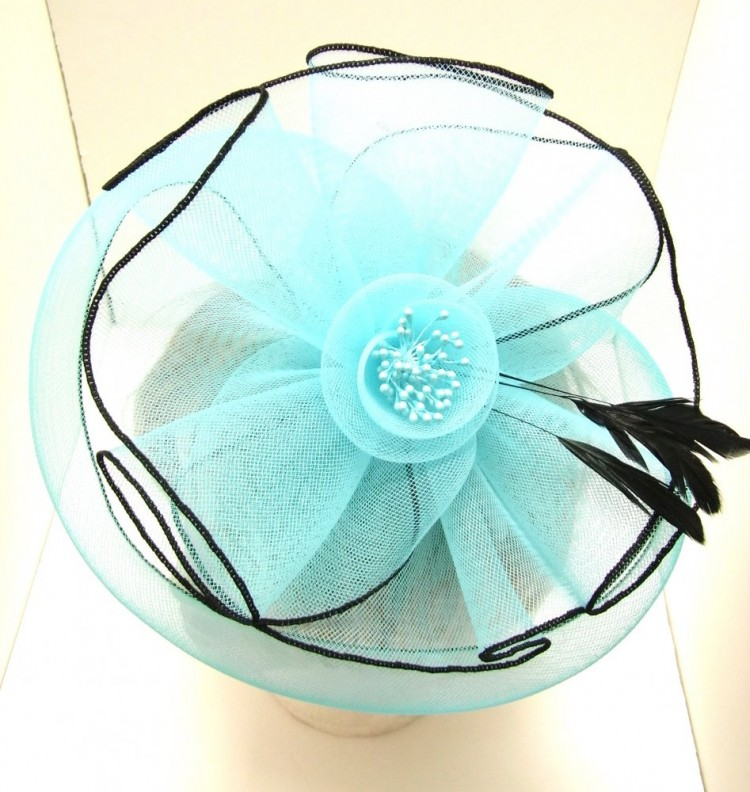 Turquoise Flower Fascinator