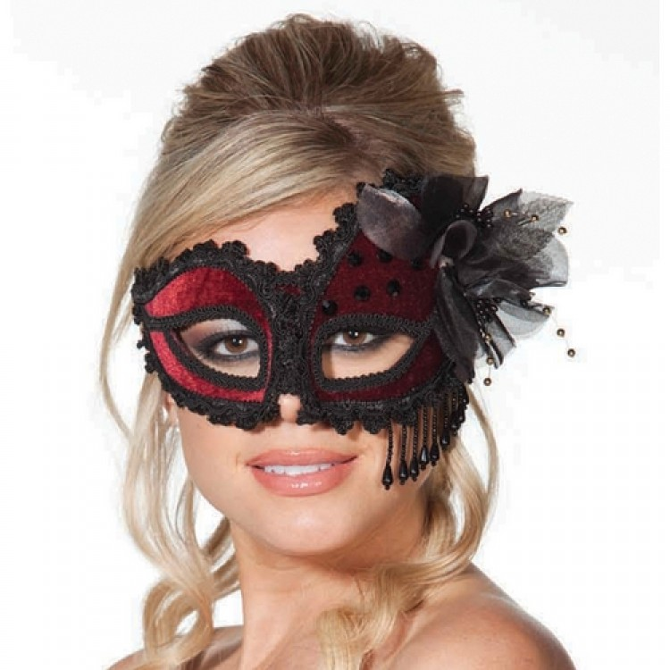 Venetian Mask With Black Braid