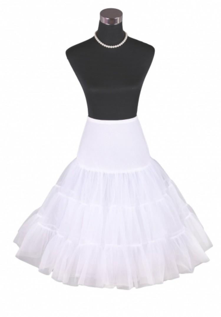 Vintage Rockabilly White Skirt