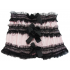 Pink Ruched Ruffle Mini Skirt